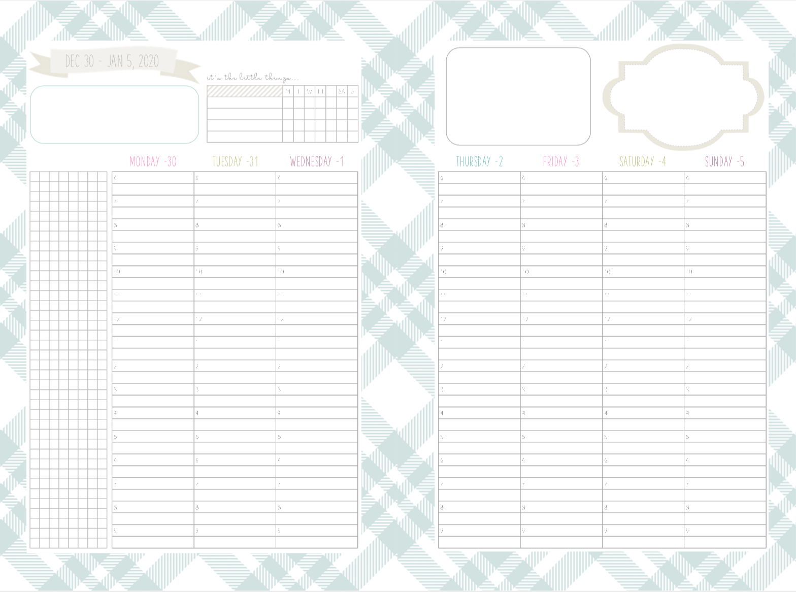photo relating to Cute Hourly Planner identified as Yourself can previously decide versus 6 substitute weekly designs